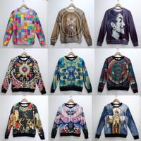 Harajuku zipper 2013 lovers fashion plus velvet sweatshirt outerwear