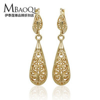 Free shipping fashion retro 18 k gold earrings
