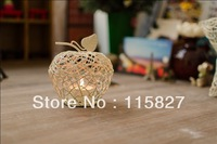 Free Shipping!New design Candle Holder Small Size Apple shape Metal Lantern Wedding decor Metal Candle Holder Christmas Gift