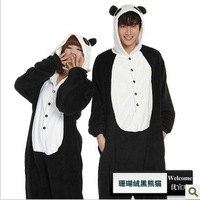 Autumn and winter lovers cartoon animal one piece sleepwear donald duck family fashion performance wear