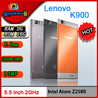 lenovo k900 quad core Intel Atom Z2580  2048MHz 1920*1080 5.5inch capacitive screen 13MP RAM2GB+ROM16GB 2500MAH android phone