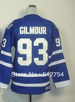 Free Shipping, #93 Doug Gilmour Kids/Youth Hockey Jersey,Ice Hockey jersey,Embroidery logos,size S--XL,Accept Mix Order
