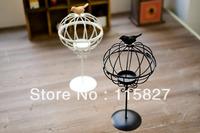 Free Shipping!New  Weddings lantern Iron Candle Holder Birdcage design metal candle holder wedding gift House decor