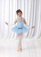 Female child dance dress child performance wear three-color child princess dress yarn tulle dress