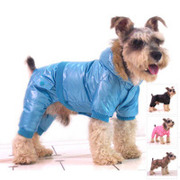 Dog padded legs down coat clothes pets winter coat skinny legs dog clothes