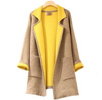 2014 spring and autumn women's fashion woolen outerwear,South Korea fashion trench coat,sweat jacket spring coat for women