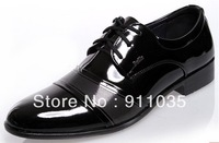Free shipping/  Han edition business shiny British leisure low sneakers