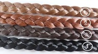 Free Shipping Women Hair Accessories Headbands Wholesale 15mm width Black Elastic Head bands Neat Wig Braid Headbands 20pcs/lot
