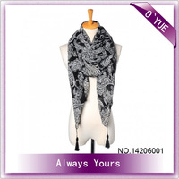 Big Size Sexy Paisley Ladies' Satin Scarf