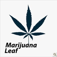 Exclusive Personality Temporary tattoo stickers Maple Marijuana Leaf water-proof Creative body tattoo art  fashion cool tattoo