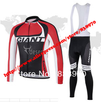 2 colour New maillot ! 2014 giant Cycling Jersey Long sleeve and bicycle bib Pants / bicicleta clothing set / ropa ciclismo men