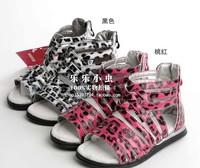Female child leopard print zipper big boy sandals 280-1c