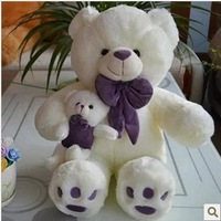 Free shipping 70cm teddy bear plush toy the mother come with kid bear plush toy