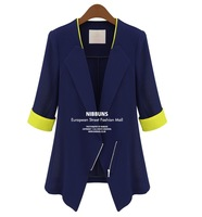 2013 autumn outerwear women's blazer one button candy color casual slim women's blazer