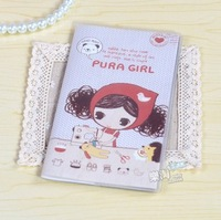 Blue Bai stationery--Korea stationery Cute Cartoon Oprah girl little account books 299