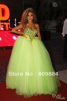 Wholesale Myriam Fares Sweetheart Ball Gown Tulle Large Long Celebrity Dresses Colorful Crystal Beaded Prom Gowns Free Shipping