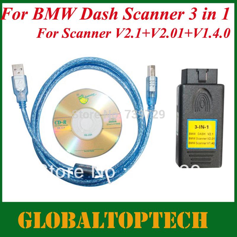 DHL Free! 2014 New Arrivals Good Quality Auto Dash Scanner 3 in 1 Dash Scanner V2.1 + DASH V2.01 + SCANNER 1.40(China (Mainland))