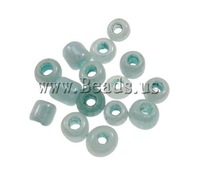 Free shipping!!!Ceylon Glass Seed Beads,Cheap, Round, ceylon, light blue, 2x1.9mm, Hole:Approx 1mm, Approx 30000PCs/Bag