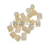 Free shipping!!!Lustered Glass seed Beads,Famous Jewelry, Tube, luster, solid color, ivory, 2x2mm, Hole:Approx 1mm