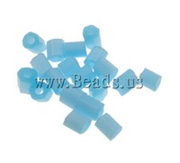 Free shipping!!!Opaque Glass Seed Beads,Lucky, Tube, matte & solid color, light blue, 2x2mm, Hole:Approx 1mm