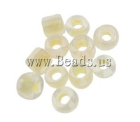 Free shipping!!!Colour Lined Glass Seed Beads,New Year Gift, Round, color-lined, ivory, 2x1.9mm, Hole:Approx 1mm