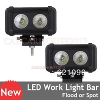 2 x 4.5inch 20W 2000lm CREE LED Flood Beam Work Light Offroad Lamp Car Boat ATV 10-45V