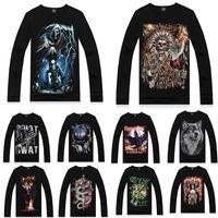 Fashion Men's Sweatshirt 3D Printing Punk Sweatshirt Long Sleeve Pullover Tops L XL XXL 72148-72177