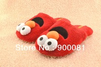 Best Gift  high quality soft indoor slippers/ Grouchland Elmo cotton home shoes /cartoon house slippers Free shipping