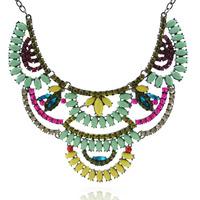 Free shipping wholesale 2014 rhinestone cupchain costume jewelry necklace