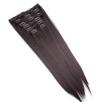 Wholesale 7PCS/SET Beauty  4# Clip-In Hair Extension, straight ,brazilian Human hair virgin hair ,Free Shipping