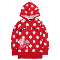 Retail-1pc/lot F4490# 3y/8y NOVA kids wear girls winter clothes printed lovely peppa hoodies sweater for girls