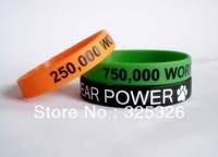 Amazing Custom hip hop Logo Silicone Wristband With Good Quality 50pcs/lot promotion business gift hand Bracelets, Bangles