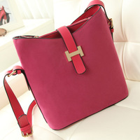 2013 women's PU leather Messager bags fashion  handbag elegant scrub material bucket bags for women