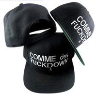 fashion men boy Comme des fuckdown hat hiphop hip hop baseball cap snapback snapbacks cheap caps hat strapback hats women 131219