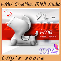 2014 New Year Gift i-mu Boutique Creative Mini laptop Speaker  i-ma Music Player Small wired speakers