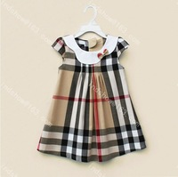 Wholesale ! The new 2014. The girl's clothes, girls classic plaid skirt, strapless dresses for children, children's skirt.