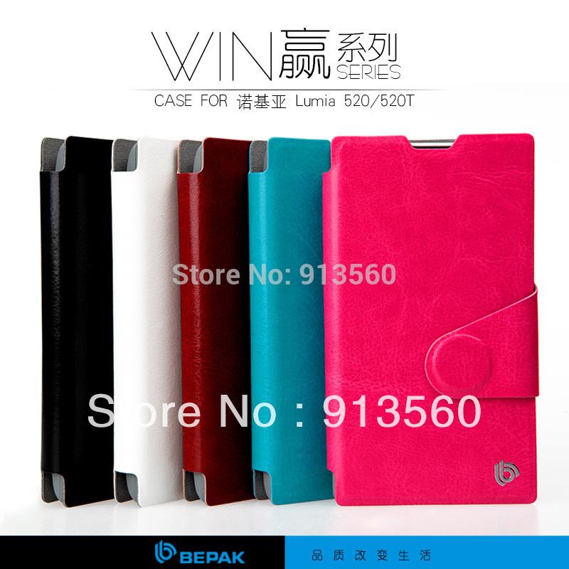 BEPAK cases for NOKIA 520 Lumia 520 win series leather phone case