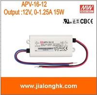 Free Shipping- # APV-16-12  meanwell 15W single output switching power supply output 12V 1.25A  apv-16-12 APV16 12V 15W 100% New