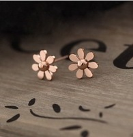 E522  Free Shipping Wholesales High Quality Vintage Simple Small Fresh Glossy Earrings Jewelry