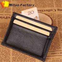 Free Shipping New Fashion Designer Credit Card & ID Holders + 100% Genuine Cow Leather Wallet Hot Sale