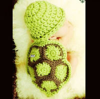 On Sale! Newborn Crochet Photography Props Baby Accessories Handmade Knitted Outfits Cute Turtle Free Shipping