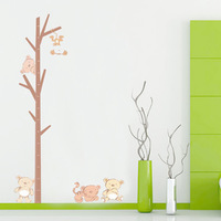 Second generation child height stickers cartoon height ruler koala bear wall stickers ld
