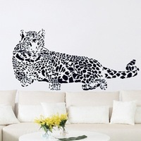 Three generations of double faced pattern wall stickers jaguar Large sofa animal ay
