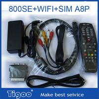 3pcs of  dvb 800 SE hd receiver with Sim A8P  wifi 800hd SE 800se hd satellite receiver 800 hd SE free shipping