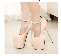2014 Newest design ladies 19cm ultra high heels fashion red bottom platform women pumps and women's prom wedding shoes