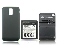 YIBOYUAN 3600mAh Extended Backup Battery + Black Back Cover +usb Wall charger For Samsung Galaxy SII S2 T989