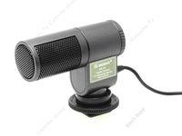 Free Shipping!SHENGGU SG-107 Professional Electret Stereo Microphone of DV Camera Handycam