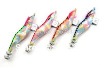 Available Free shipping!10pcs/lot SHRIMP fishing lures spoon fishing hook Squid Jigs fugangmutou 3.5#