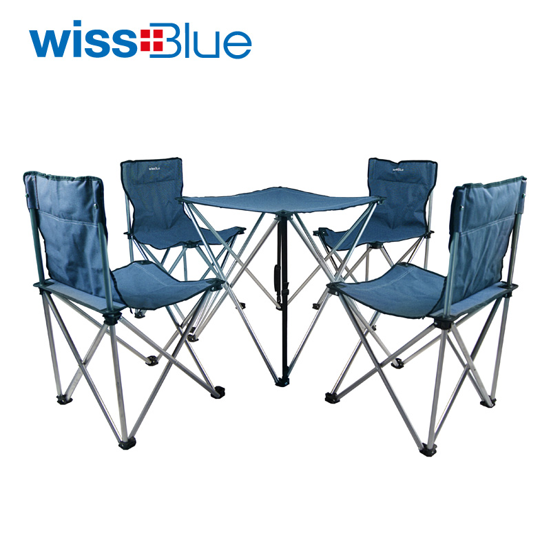 Wissblue outdoor folding tables and chairs set outdoor tables and chairs portable outdoor(China (Mainland))