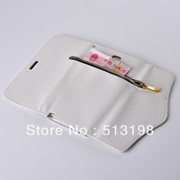 Hot Luxury Rivet Zipper wallet Leather Cover Case For Samsung N9000 Note III 3 Free shipping ! High quality BH0227